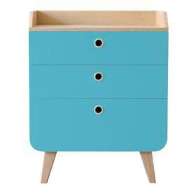 Laurette – Commode Zen – 3 laden – Turquoise