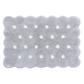 Wasbaar Kindervloerkleed – Mini Biscuit Pearl Grey – 70 x 100 cm