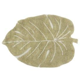 Wasbaar Kindervloerkleed – Monstera Olive – 75 x 100 cm