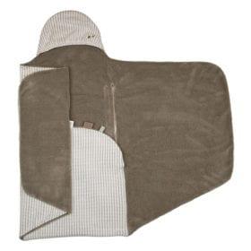 Snoozebaby Amsterdam – Wrap Blanket – Trendy Wrapping – Warm Brown (Organic)