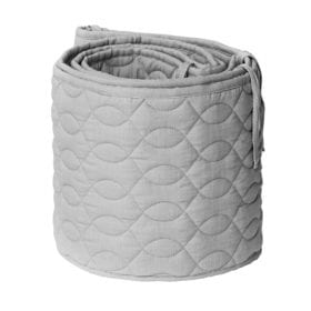 Bed Bumper – Quilted – Elephant Grey