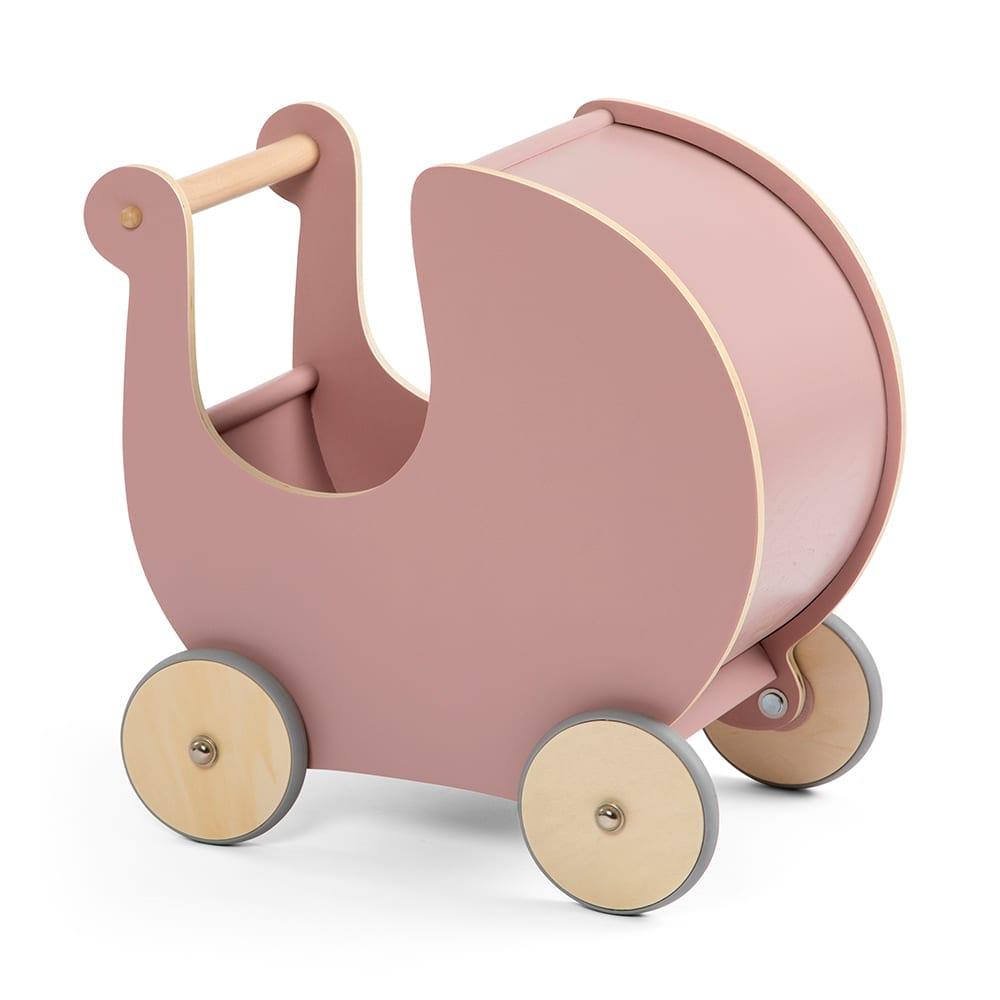 Puppenwagen aus Holz – Blossom Pink