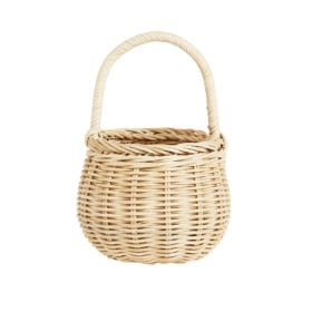 Rattan Korb – Berry Basket – Stroh