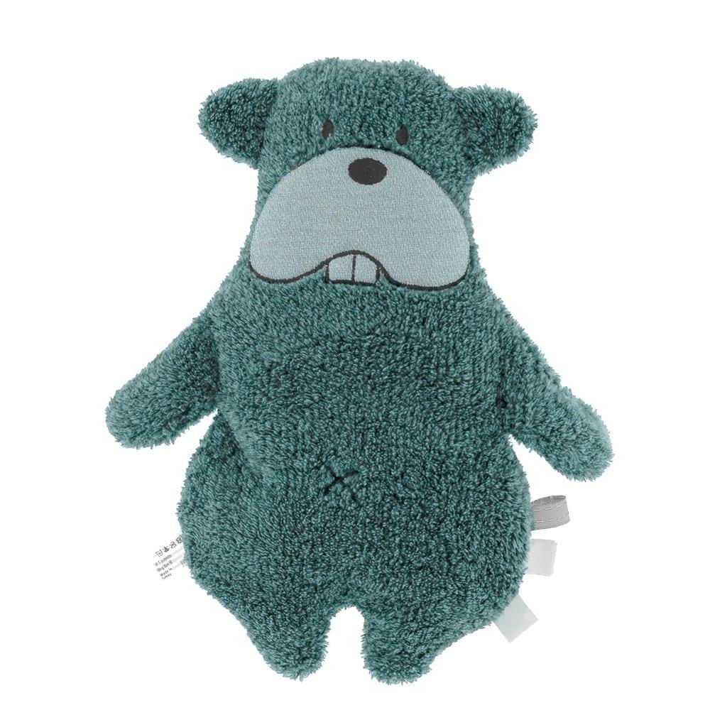 Snoozebaby Amsterdam – Soft Toy – Bammy Beaver – Smokey Green (Organic)
