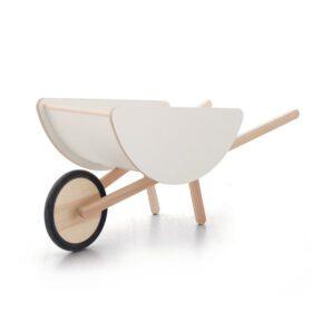 Ooh Noo – Toy Wheelbarrow – Wood/White