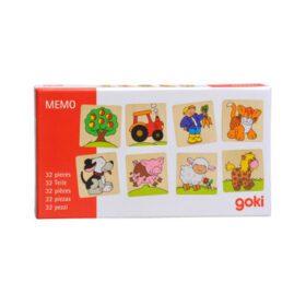 Goki – Memory Spiel – Farm, 32-Teile