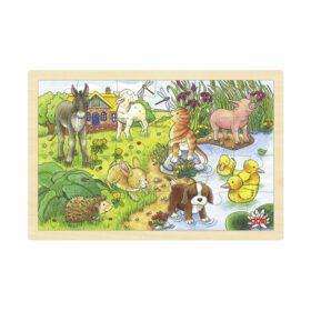 Goki – Puzzle – Baby Animals II