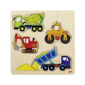 Goki – Puzzle – Building Site Vehicles II