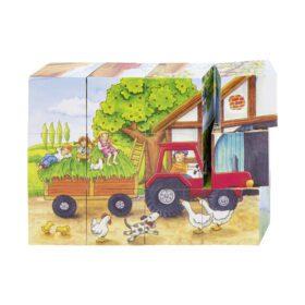 Goki – Puzzle – Seasons on the Farm Cube