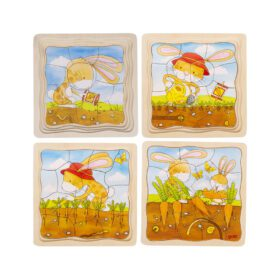 Goki – Puzzle – Vegetable Patch, 4 layers