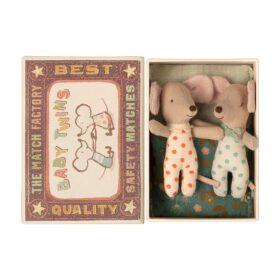 Maileg – Baby Mice – Twins in Matchbox