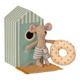 Maileg – Beach Mice – Little Brother in Cabin de Plage