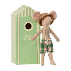 Maileg – Beach Mice – Dad in Cabin de Plage