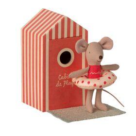 Maileg – Beach Mice – Little Sister in Cabin de Plage