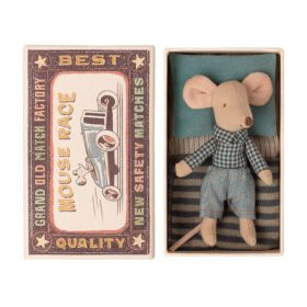 Maileg – Little Brother – Mouse in Matchbox