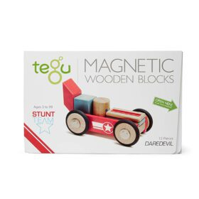 Tegu – Magnetic Wooden Blocks – Daredevil, 12-piece set