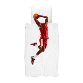 Snurk – Duvet Cover Set – Basketball Star Red