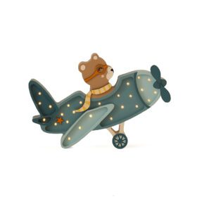 Little Lights – Night Light – Vintage Aircraft – Denim Blue