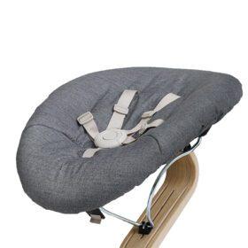 Leander – Kinderstoel – Baby Matras – Donkergrijs/Zand