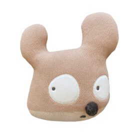 Woolable – Edgar Plans Kids Wool Cushion – Miss Mighty Mouse – 35 x 35 cm