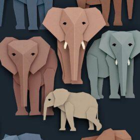 Studio Ditte – Wallpaper Kids Room – Elephants Dark
