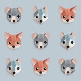 Studio Ditte – Wallpaper Kids Room – Forest Animals Ice Blue