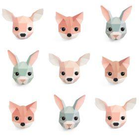 Studio Ditte – Wallpaper Kids Room – Forest Animals