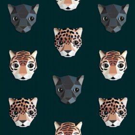 Studio Ditte – Wallpaper Kids Room – Panthera Dark