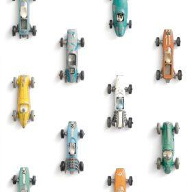 Studio Ditte – Wallpaper Kids Room – Race Cars