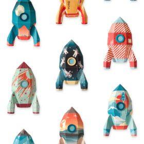Studio Ditte – Wallpaper Kids Room – Rocket