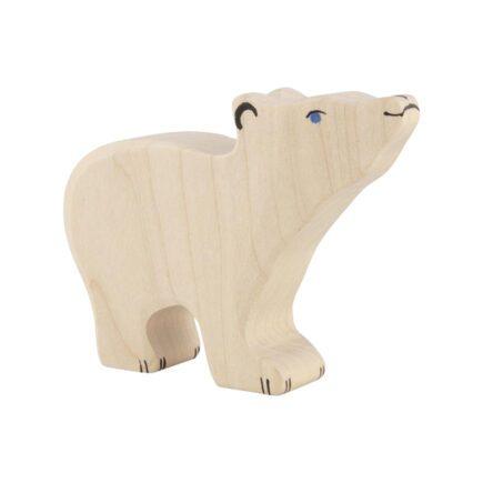 holztiger-wooden-animals-ploar-bear-small-head-raised