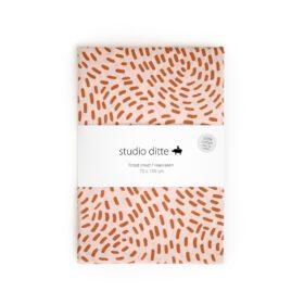 Studio Ditte – Hoeslaken Junior – Flow Roze/Roestbruin – 70 x 150 cm