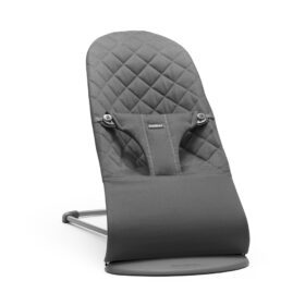 BabyBjörn –  Baby Bouncer Bliss – Dark Grey Frame – Classic Quilt – Anthracite