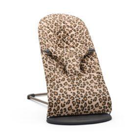 BabyBjörn –  Baby Bouncer Bliss – Black Frame – Classic Quilt – Beige/Leopard