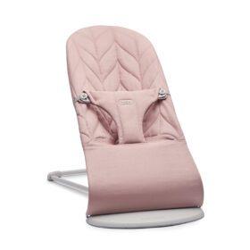 BabyBjörn – Wipstoeltje Bliss – Lichtgrijs Frame – Petal Quilt – Dusty Pink