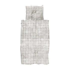 Snurk – Duvet Cover Set – Tiles Pearl White