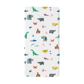 Snurk – Baby Bed Fitted Sheet – Paper Zoo