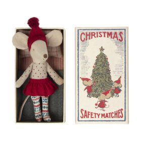 Maileg – Christmas Mouse in Matchbox – Big Sister