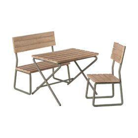 Maileg – Garden Set – Table w. Chair and Bench