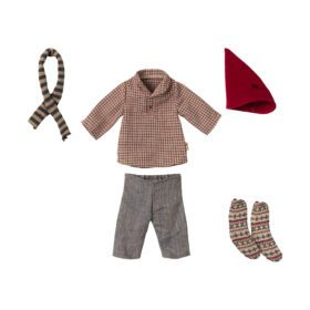 Maileg – Christmas Clothes – Medium Mouse – Boy