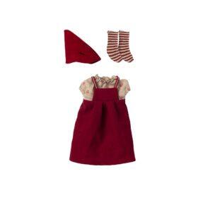 Maileg – Christmas Clothes – Medium Mouse – Girl
